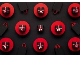 红黑相间的礼品盒背景_9989528
