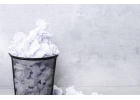 垃圾桶里的白纸_10786476