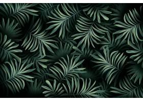 逼真的热带树叶壁纸_7974225