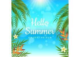 现实主义的你好夏日概念_8245255