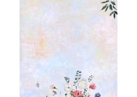 粉彩画布上的花朵_4557546