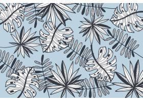 线形热带树叶粉色壁纸_8008884