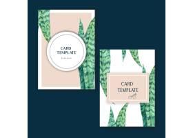 热带名片邀请赛设计夏季带植物异国情调的植_4857547