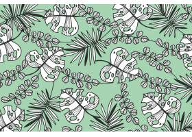 热带树叶配粉色壁纸_8008877