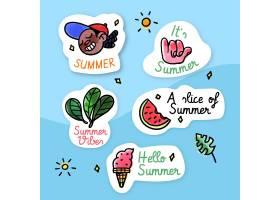 水彩画设计夏季标签_8968407