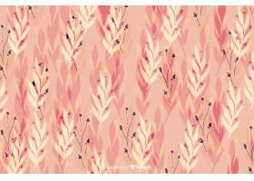 水彩花卉粉色无缝背景_5445525