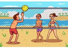 海滩人设计_9622508