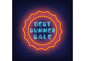 最好的夏季大减价霓虹灯风格的插图圆形_2767066