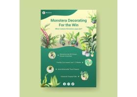 有关夏季植物和室内植物模板设计的信息用_8908290