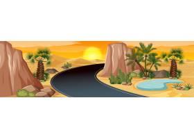 棕榈荒漠绿洲自然景观风光_11691105