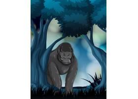 森林里的一只大猩猩_4366197