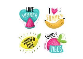 手绘夏季标签包_8009318