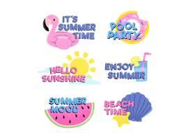 手绘夏季标签系列_7945835