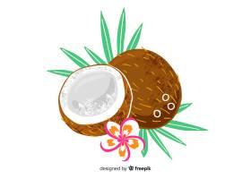 手绘椰子背景_4475079