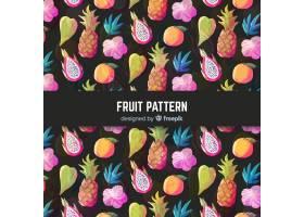 手绘热带水果图案_4410336