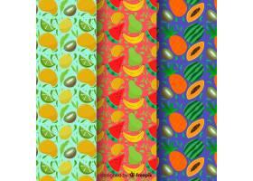 手绘热带水果图案_4410338