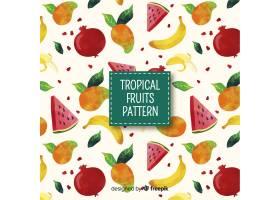 手绘热带水果图案_4410339