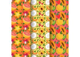 手绘热带水果图案_4410340