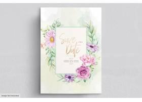 手绘花卉婚礼邀请卡_11851077