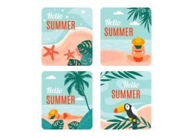 平面设计的夏季卡片_8135377