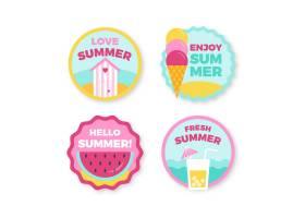 平面设计的夏季徽章_7964226