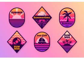 平面设计的夏季徽章_8355284