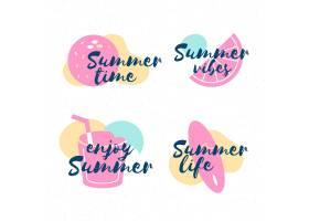 平面设计的夏季标签_7946389