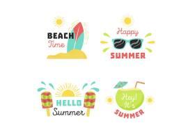 平面设计的夏季标签_7946390