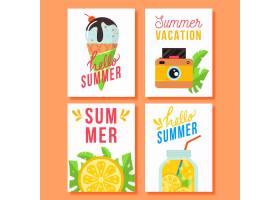 平面设计的夏季贺卡_8132568