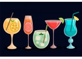 平面设计的鸡尾酒系列_9010645