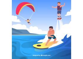 户外休闲活动概念与平面设计_2589184
