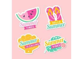 扁平设计的夏季徽章_8272697