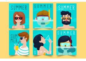 平面设计夏季卡片模板_8141467