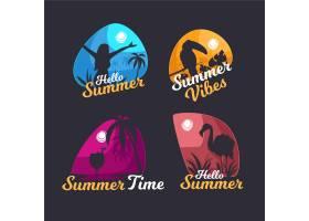 平面设计夏季徽章系列_7962554