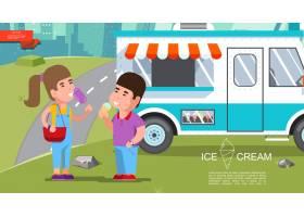 平板冰淇淋夏日彩色模板_11059265