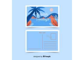 平淡的暑假明信片_4493968