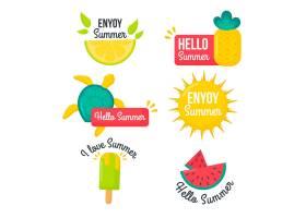 平面设计夏季徽章系列_8248264