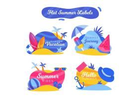 平面设计夏季徽章系列_8352619