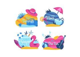 平面设计夏季徽章系列_8352623