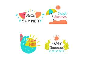 平面设计夏季标签系列_8356092