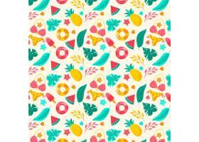 带有泳衣和水果的夏季图案_9243348