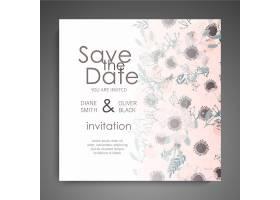 婚礼邀请函已经准备好了美丽的花朵贺卡_4122921