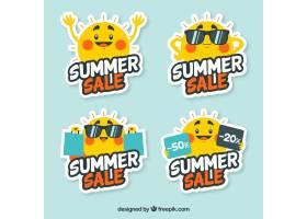 夏季销售的阳光标签_903120