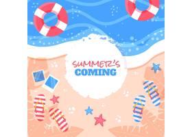 五颜六色的夏日背景_8485057