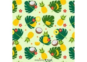 五颜六色的热带水果图案_4385638