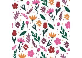五颜六色的花卉图案_9211119