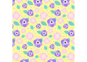 五颜六色的花卉图案设计_9211121