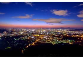 首爾的韓國天際線南山城要塞的樂天世界商_11600345