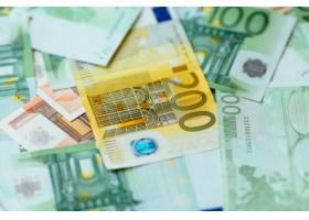 欧元货币欧元现金特写欧元钞票背景_2584005
