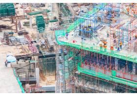 从高处俯瞰建筑物的建造_966962